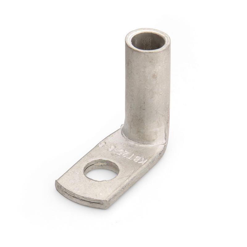 Угловые кабельные наконечники медные луженые под опрессовку с хвостовиком под 90° – ТМЛс(90) КВТ ТМЛс(90) 25-8