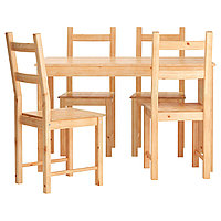 Стол и 4 стула ИНГУ / ИВАР сосна ИКЕА, IKEA