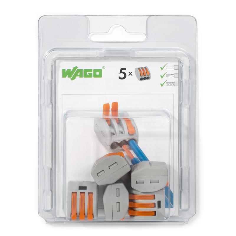 Мини-упаковка рычажковых клемм «Wago» в блистерах серии 222 WAGO 222–415/996-005