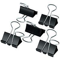 Зажимы для бумаг 19мм, Berlingo, 12шт., черные, картонная коробка, фото 2