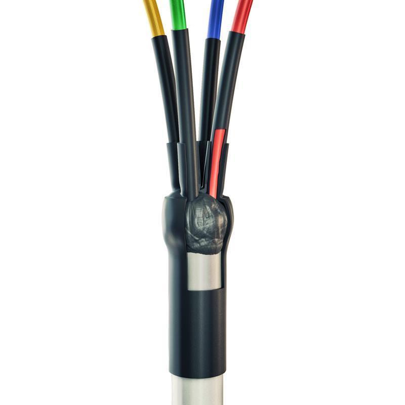 Концевая кабельная муфта для кабелей сечением 2.5-10 мм с пластмассовой изоляцией до 400 В 3ПКТп мини - 2.5/10