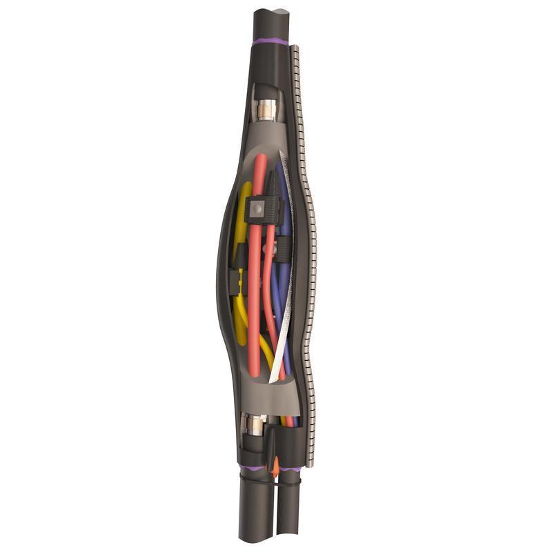Ответвительная кабельная муфта для кабелей с пластмассовой изоляцией до 1кВ 4ПТО-1-16/50-1.5/6