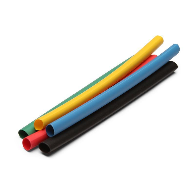 Термоусадочные трубки в метровой нарезке с коэффициентом усадки 2:1 ТНТ нг КВТ ТНТ нг-8/4 желтая