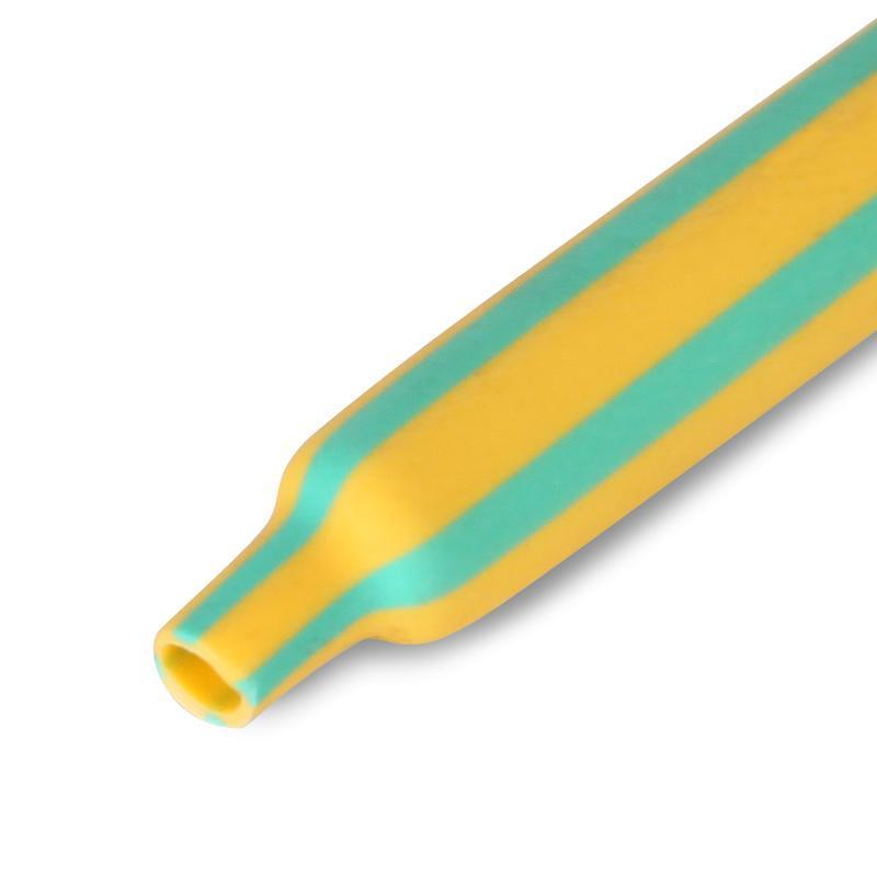 Желто-зеленые термоусадочные трубки с коэффициентом усадки 2:1 ТУТнг-ж/з КВТ ТУТнг-ж/з-20/10