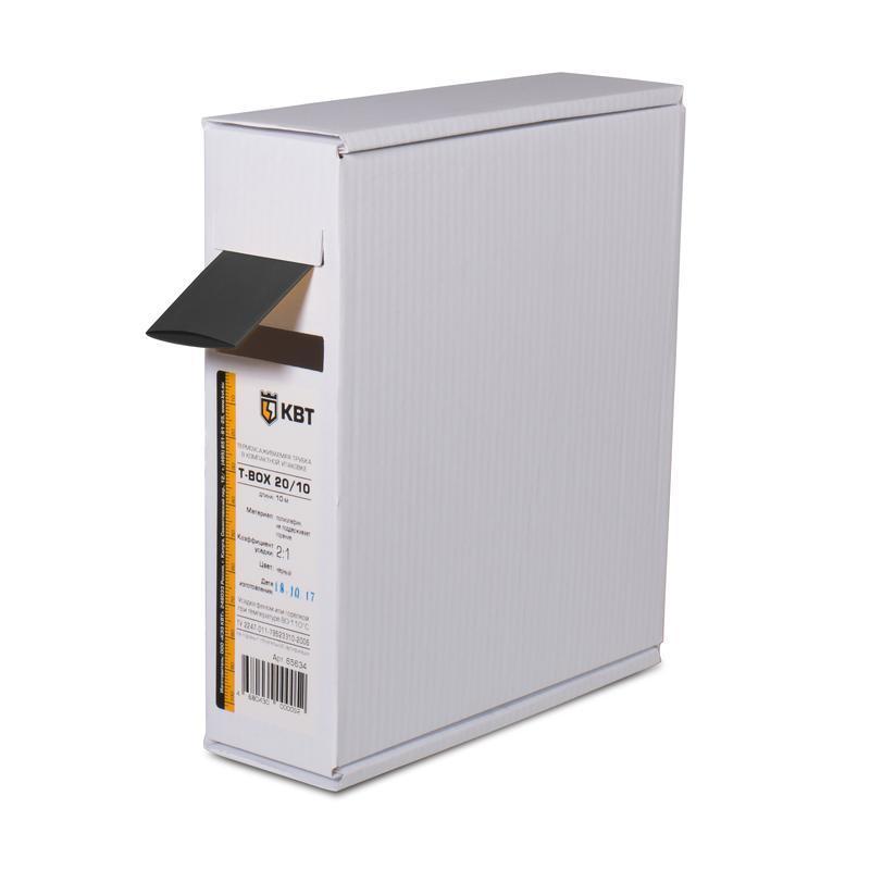 Термоусадочные черные трубки в компактной упаковке Т-бокс КВТ Т-BOX-20/10 (чер)