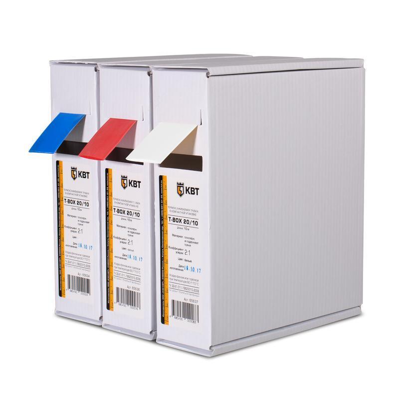 Термоусадочные цветные трубки в компактной упаковке Т-бокс КВТ Т-BOX-10/5 (кр)