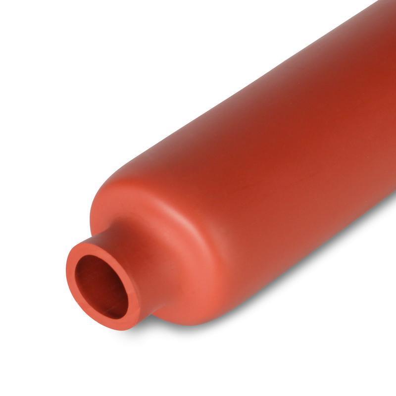 Антитрекинговая среднестенная термоусадочная трубка с коэффициентом усадки 3:1 ТСТ-А-24/8-1000, кирп-кр
