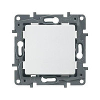 Выключатель одноклавишный - 10 AX - 250 В~ - Белый - Etika