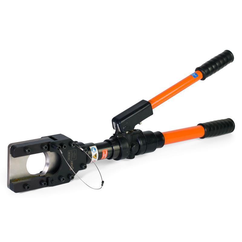 Ножницы гидравлические ручные для резки стальных канатов, проводов АС и бронированных кабелей КВТ НГР-65