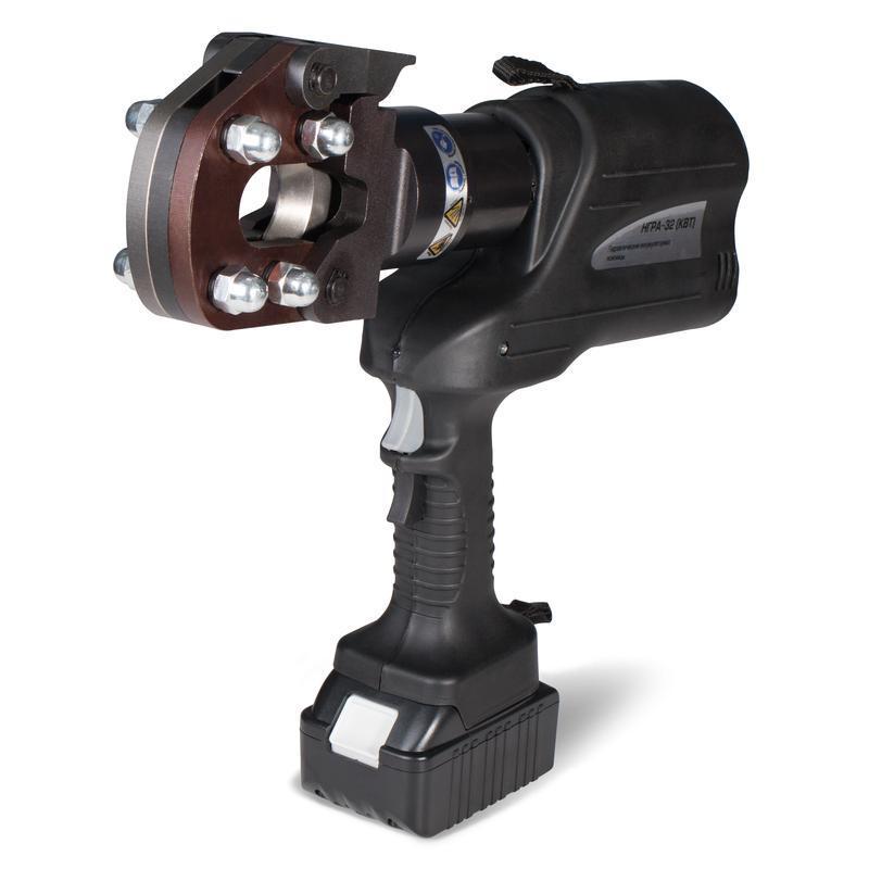 Гидравлические аккумуляторные ножницы для резки кабелей, проводов АС, стальных тросов КВТ НГРА-32