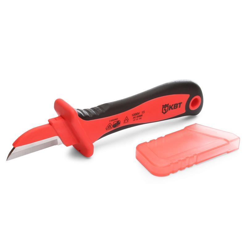 Нож монтерский диэлектрический с частично изолированным прямым лезвием НМИ-05