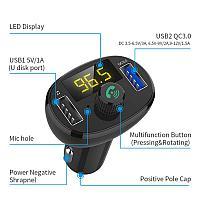 Автомобильный FM модулятор Hands Free Bluetooth MP3-плеер быстрая зарядка USB