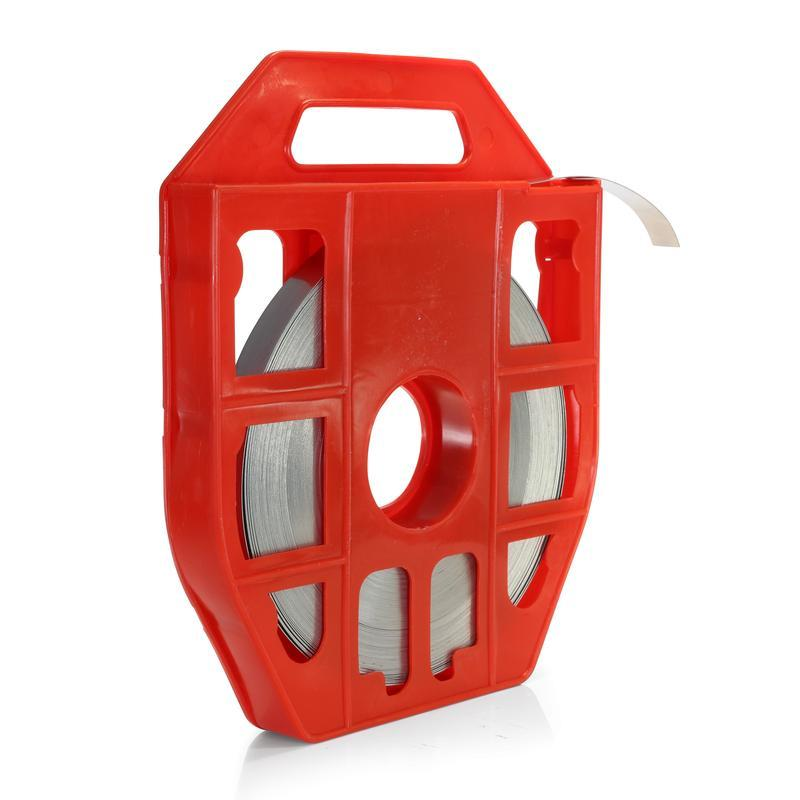 Лента монтажная из нержавеющей стали в пластиковой кассете — ЛКС (201) Fortisflex ЛКС (201)-2007 (25м) в кассете