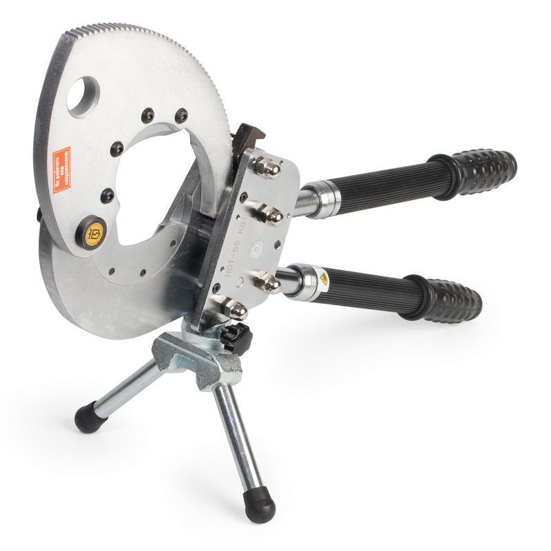 Секторные ножницы со сменными лезвиями для резки стальных канатов, проводов АС и бронированных кабелей КВТ НСТ-55