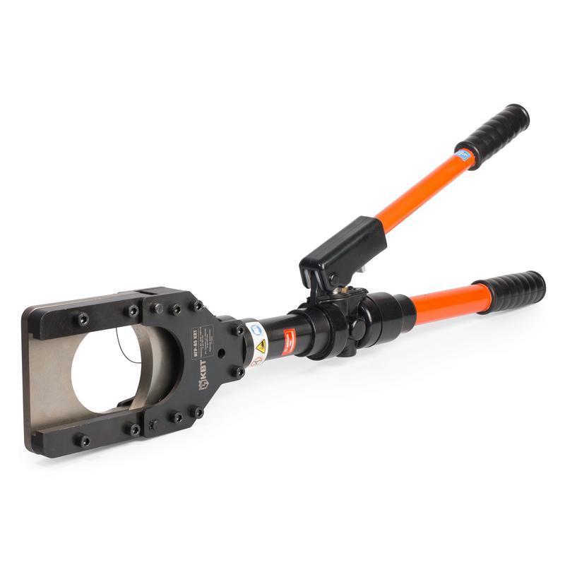 Ножницы гидравлические ручные для резки стальных канатов, проводов АС и бронированных кабелей КВТ НГР-85