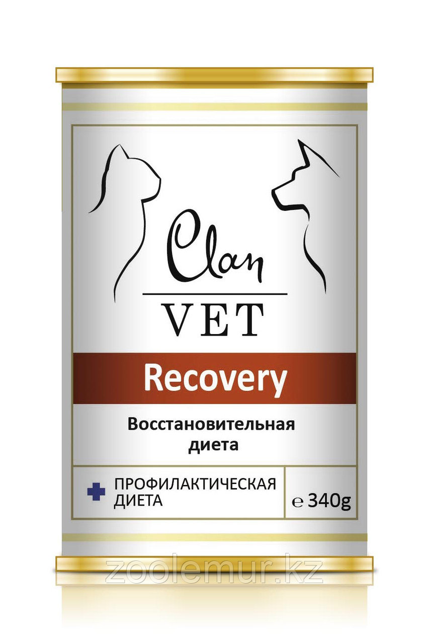 CLAN VET RECOVERY диет консервы для собак и кошек Восстановительная диета 340г