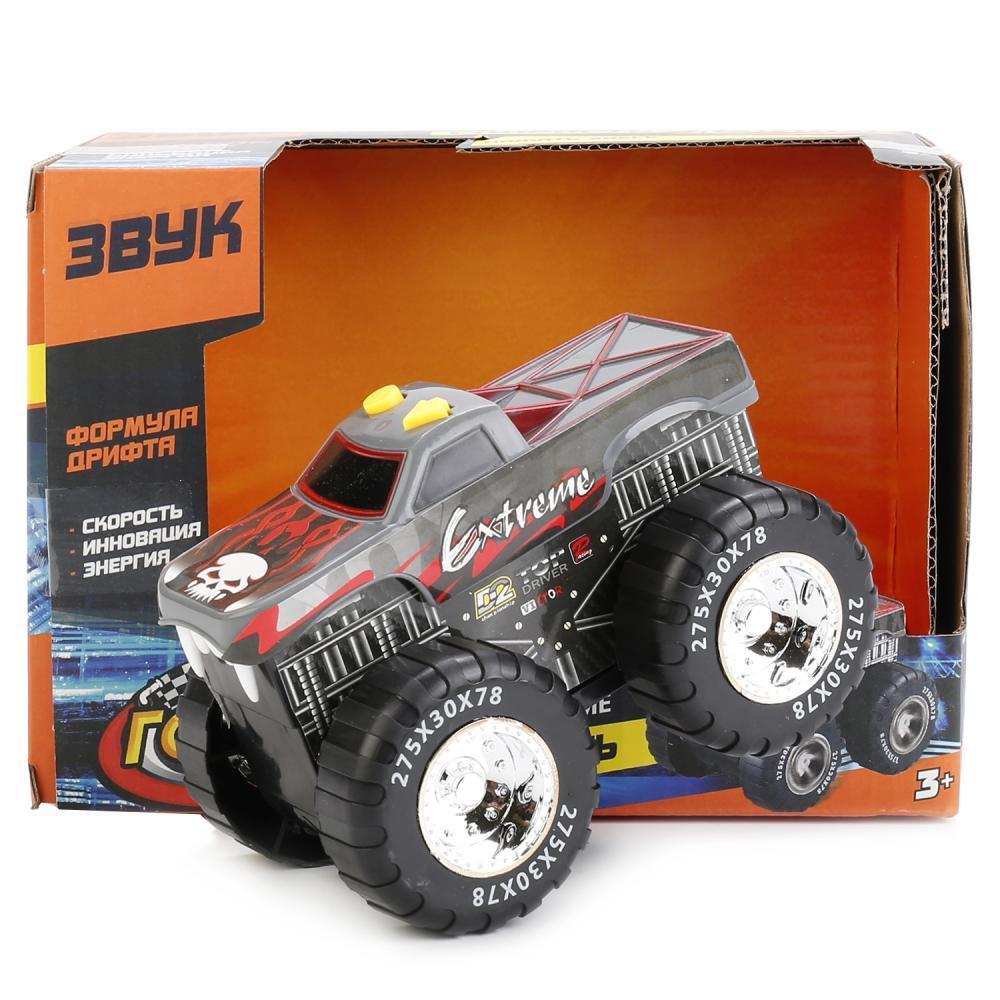 IV. Машина гоночная Бигфут «Формула дрифта» черная, на батарейках, озвученная
