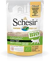 Schesir Bio консервы для кошек, курица 85г