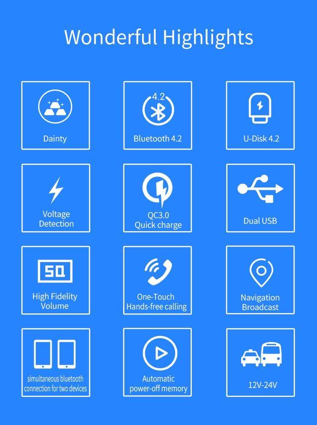 Автомобильный FM модуляторHands Free поддерживаемые функции