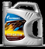 Масло трансмиссионное Газпром  ATF DEXRON  DX III 4литра, фото 1