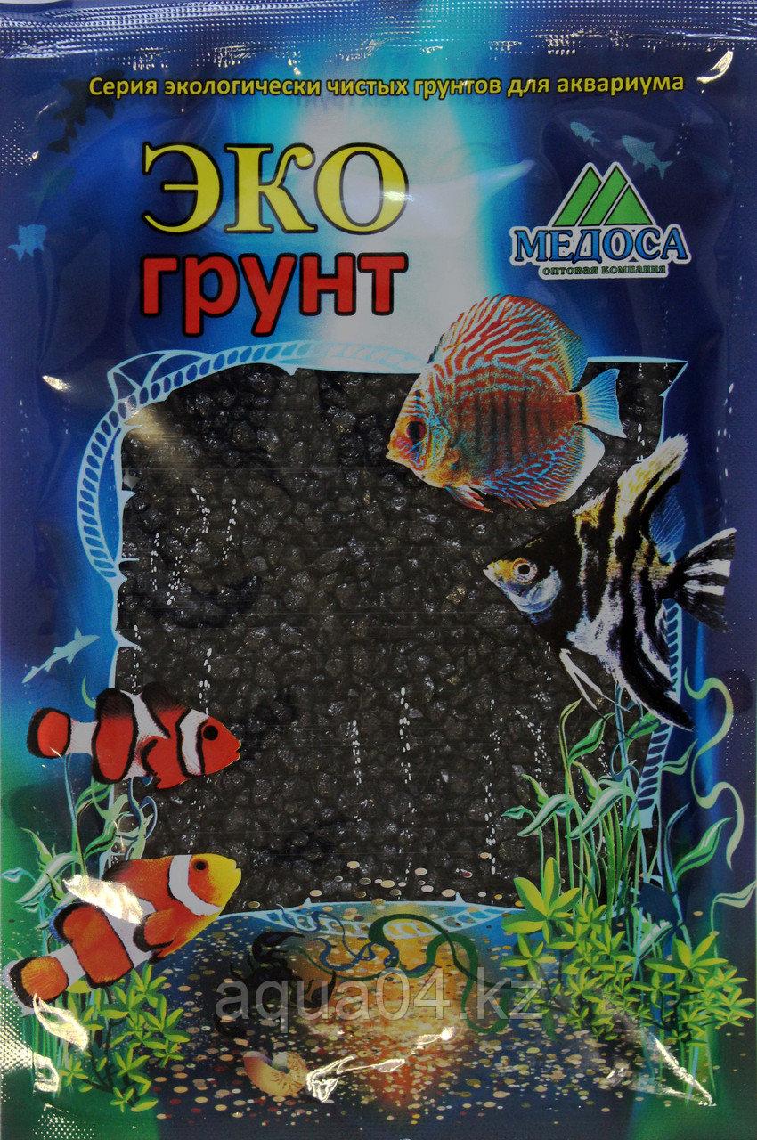Цветная мраморная крошка 2-5 мм ЧЕРНАЯ (блестящая)