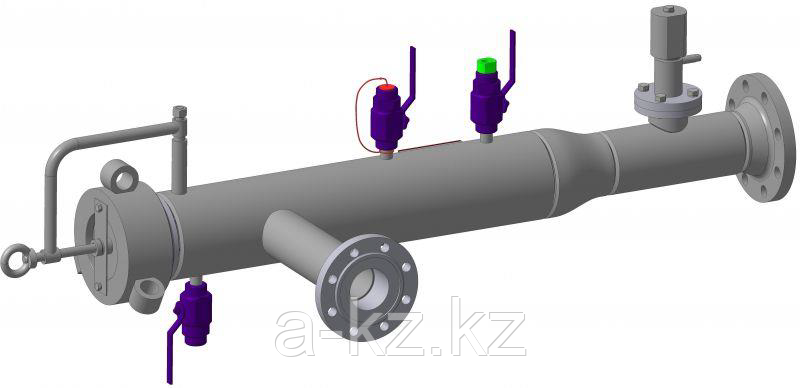 Камера(устройство) запуска и приема средств внутри-трубной очистки диагностики, фото 2