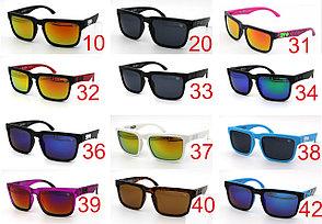 Солнцезащитные очки SPY+ черная оправа, красный лого, желтые линзы , фото 2
