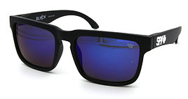 Солнцезащитные очки SPY+ черная оправа,белый лого,синие линзы