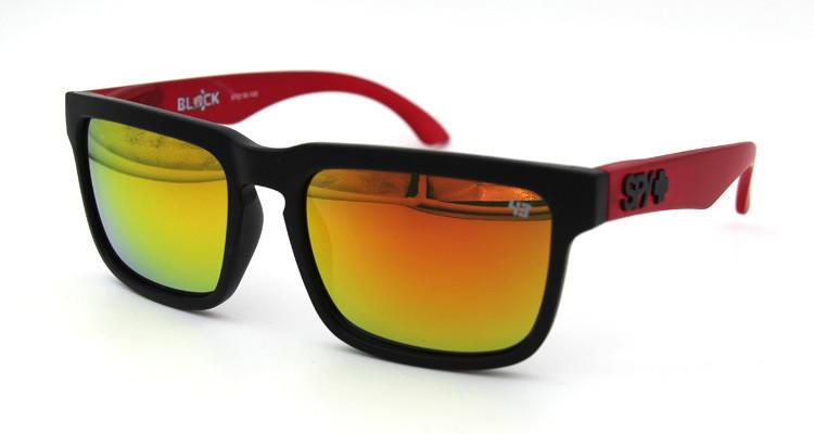 Солнцезащитные очки SPY+ by Ken Block, красные дужки,черная оправа.