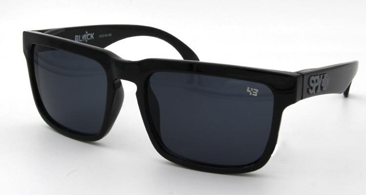 Солнцезащитные очки SPY+ by Ken Block, черные дужки,черная оправа.