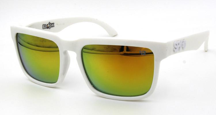 Солнцезащитные очки SPY+ by Ken Block, белые дужки,белая оправа.