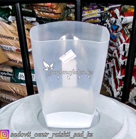 Горшок пластиковый для орхидей,1 литр. Цвет: полупрозрачный., фото 2
