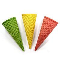 Вафельные Рожки Сахарные 110 мм Цветные АССОРТИ