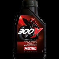Синтетическое моторное масло Motul 300V 4T FL 15W50 1литр