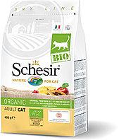 Schesir Bio сухой корм для кошек, домашняя птица 400г, фото 1