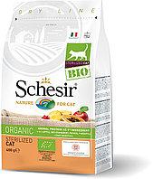 Schesir Bio сухой корм для стерилизованных кошек, домашняя птица 400г, фото 1