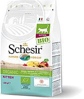 Schesir Bio сухой корм для котят, домашняя птица 400г, фото 1