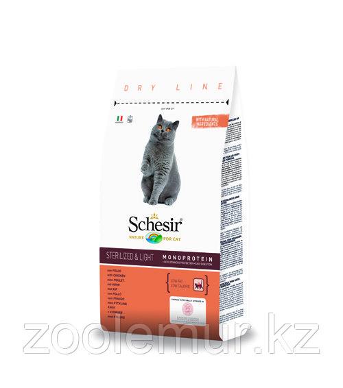 SCHESIR STERILIZET and LIGHT сухой корм 400г для кошек стерилизованных и с избыточным весом