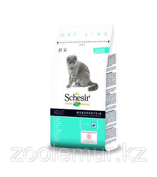 SCHESIR MAINTENANCE сухой корм 400г для кошек с белой рыбой