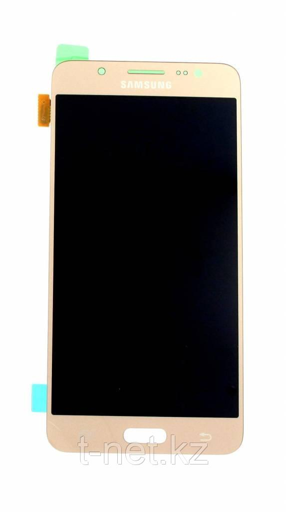 Дисплей Samsung Galaxy J5 Duos (2016) SM-J510 Сервис Оригинал с сенсором, цвет золотистый