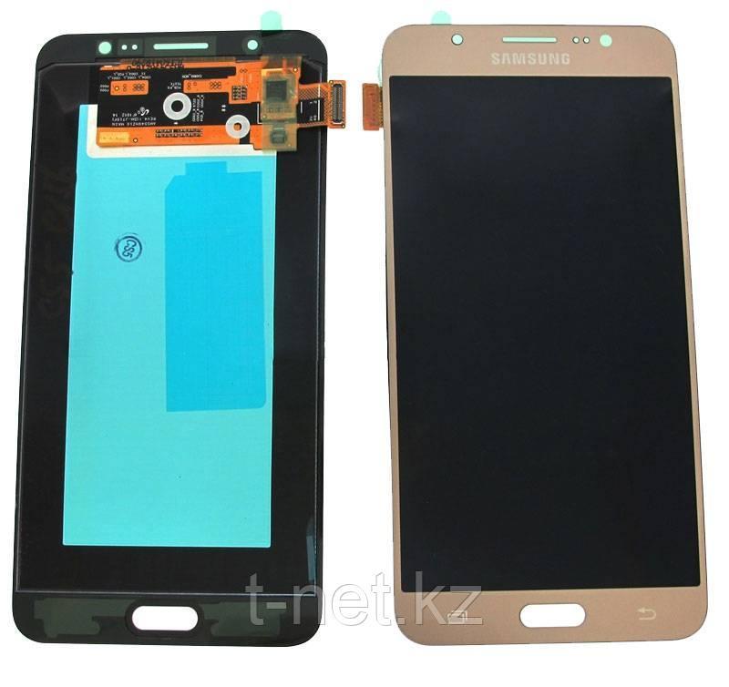 Дисплей Samsung Galaxy J7 Duos (2016) SM-J710 Сервис Оригинал с сенсором, цвет золотистый