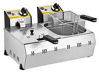 Фритюрница двухсекционная электрическая 5+5 литров.