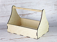 Деревянные ящики с ручкой (плотника) без покраски 30*20*22 см.