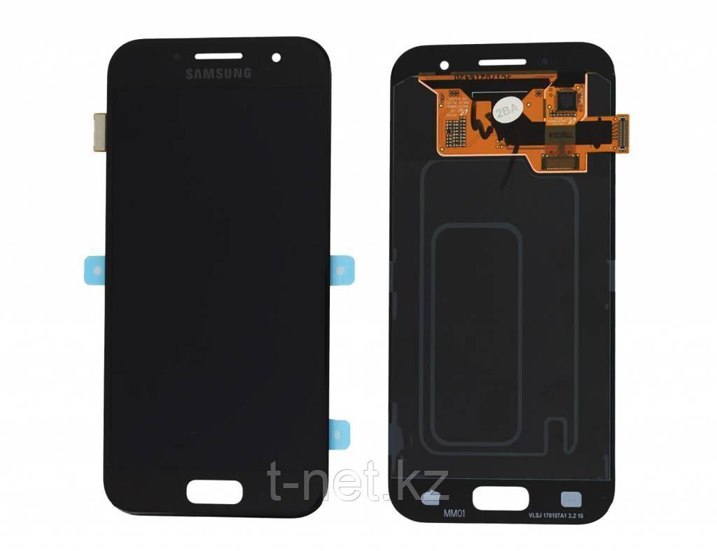 Дисплей Samsung Galaxy A3 Duos (2017) SM-A320F Сервис Оригинал с сенсором, цвет черный