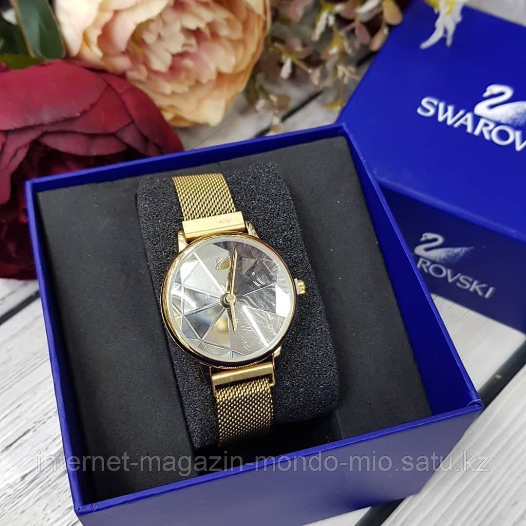 Женские часы Swarovski, на магнитном браслете, (Копия Люкс)