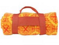 Одеяло флисовое желтое