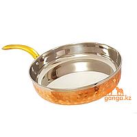Медная сковорода без крышки, 0.8 л