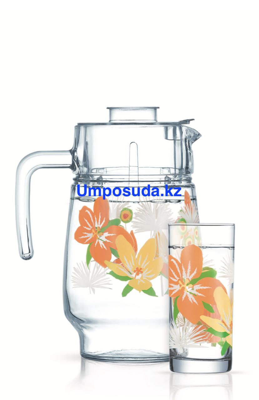 Набор для напитков Luminarc Pop Flowers Orange (7пр.)