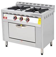 Плита газовая 2-х конфорочная с жарочным шкафом
