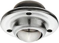 Шаровой ролик, свободный ход Для винтовой фиксации - тусклый. D: 45 мм, высота установки: 20 мм, Ø колеса: 25